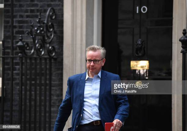 Michael Gove who has been made Environment Secretary leaves 10 Downing Street on June 11 2017 in London England Prime Minister Theresa May Reshuffles...
