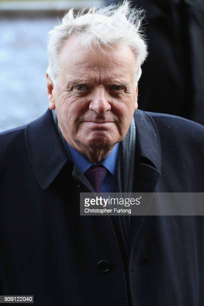 Michael Grade arrives at Liverpool Anglican Cathedral for the funeral of comedian Sir Ken Dodd on March 28 2018 in Liverpool England British comedy...