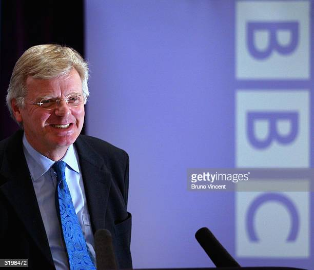 Michael Grade speaks during a press conference to announce his appointment as the new BBC chairman on April 2 2004 in London The position became...