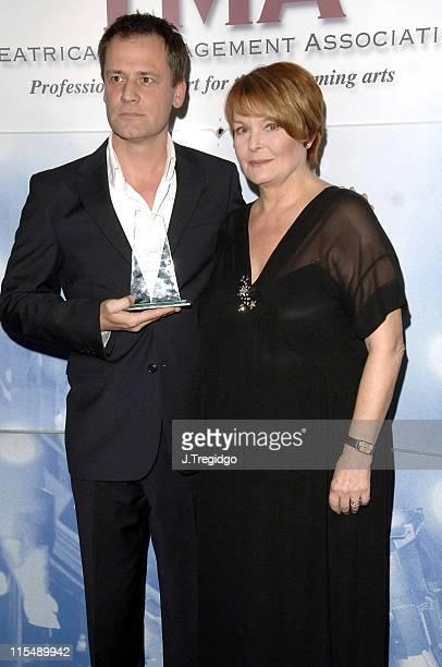 Michael Grandage and Isla Blair during TMA Theatre Awards at Linbury Studio Theatre in London, Great Britain.