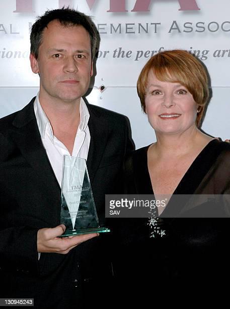Michael Grandage, winner of Best Director and presenter Isla Blair