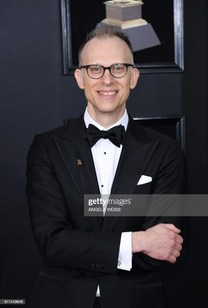 US-ENTERTAINMENT-MUSIC-GRAMMY-ARRIVALS-award : News Photo