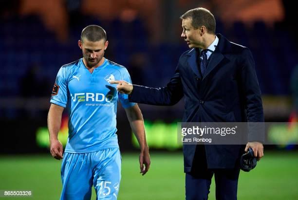 Michael Gravgaard director of Randers FC Perry Kitchen of Randers FC after the Danish Alka Superliga match between Randers FC and AaB Aalborg at...