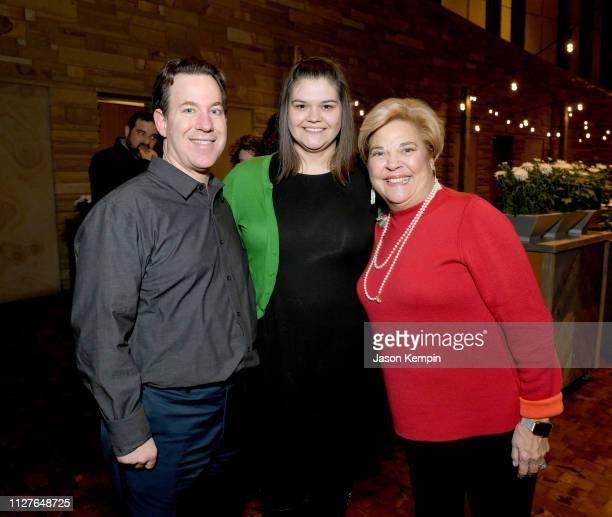 Michael Gray Emily Gray and honoree Bebe Evans attend the Twelfth Annual Louise Scruggs Memorial Forum honoring Bebe Evans and Marcie Allen Van Mol...
