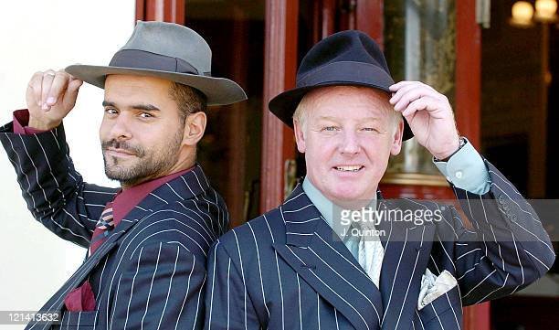 Michael Greco and Les Dennis during Kiss Me Kate Photocall at New Wimbledon Theatre in London Great Britain