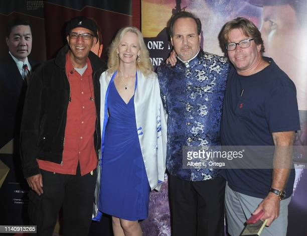 Michael Green Kim Holland Kevin Foster and Norton Flynn attend the Premiere Of Against The Wall held at Laemmle Monica Film Center on May 2 2019 in...