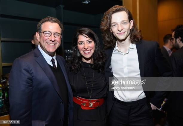 Michael Greif Rachel Chavkin and Mike Faist attend the Tony Honors Cocktail Party Presenting The 2017 Tony Honors For Excellence In The Theatre And...