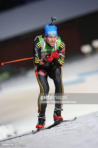 Michael Greis of Germany skis during Men's 10 km Sprint the EON Ruhrgas IBU Biathlon World Cup on December 5 2009 in Ostersund Sweden