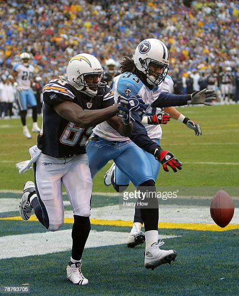 Michael Griffin of the Tennessee Titans knocks down a pass in the end zone intended for Chris Chambers of the San Diego Chargers in the second...