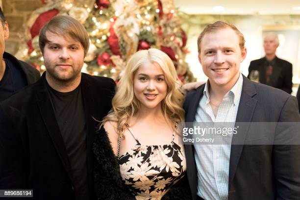 Michael Grizzard Tory Ross and Joshua Erp attend The Thalians Hollywood for Mental Health Holiday Party 2017 at the Bel Air Country Club on December...