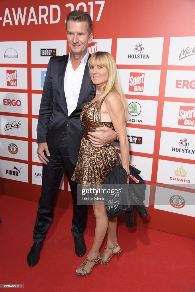 Michael Gross and his wife Ilona Gross attends the Sport Bild Award on August 21, 2017 in Hamburg, Germany.