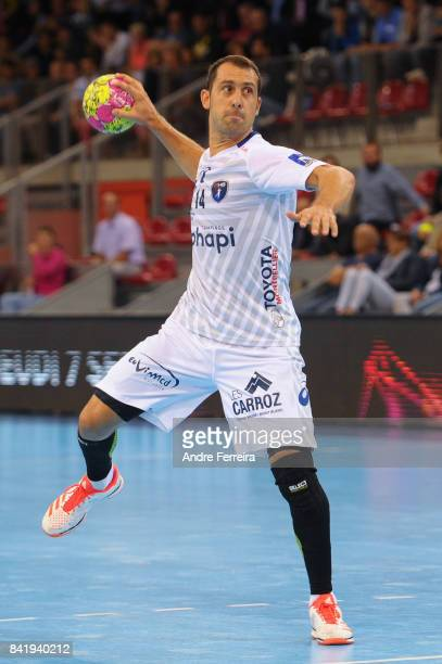 Michael Guigou of Montpellier during the semi final match of the Handball Champions Trophy between Nantes and Montpellier on September 1 2017 in...