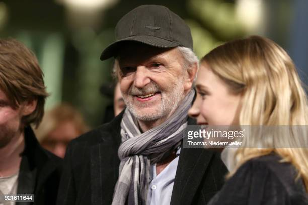 Michael Gwisdek and Lena Klenke attend the 'The Silent Revolution' premiere during the 68th Berlinale International Film Festival Berlin at...