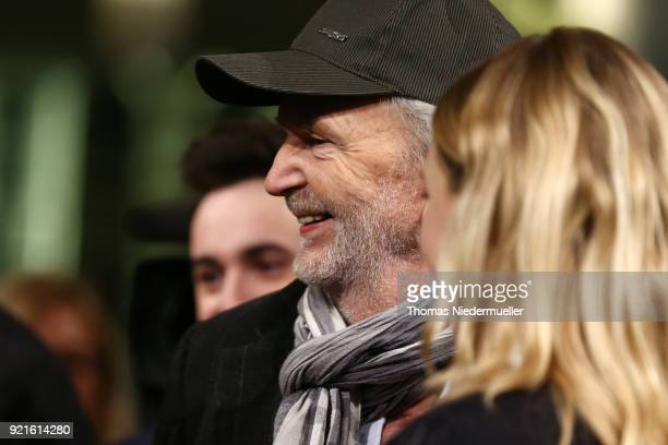Michael Gwisdek attend the 'The Silent Revolution' premiere during the 68th Berlinale International Film Festival Berlin at Friedrichstadtpalast on...