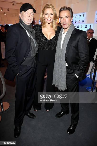 Michael Gwisdek Veronica Ferres and Hannes Jaenicke attend 'BMW Golden Bear Lounge' opening at the 63rd Berlinale International Film Festival on...