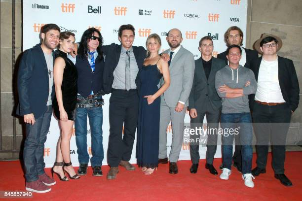 Michael H Weber Alison Brie Tommy Wiseau James Franco Ari Graynor Paul Scheer Dave Franco Scott Neustadter Greg Sestero and TIFF programmer Peter...