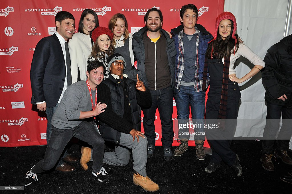 Michael H. Weber, Mary Elizabeth Winstead , Kaitlyn Dever , Brie Larson ,James Ponsoldt, Miles Teller, Shailene Woodley, Scott Neustadter, Andre Royo attend 'The Spectacular Now' premiere at Library Center Theater during the 2013 Sundance Film Festival on January 18, 2013 in Park City, Utah.
