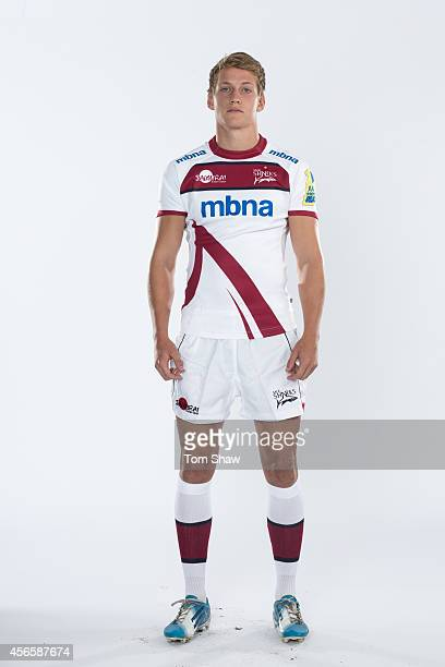 Michael Haley of Sale Sharks poses for a picture during the BT Photoshoot at the AJ Bell Stadium on August 19 2014 in Salford England