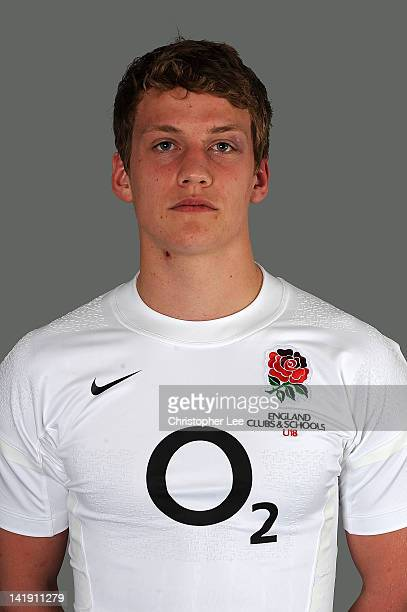 Michael Haley poses for a portrait at the England Under 18 Clubs and Schools squad photo call on March 23 2012 in Guildford England