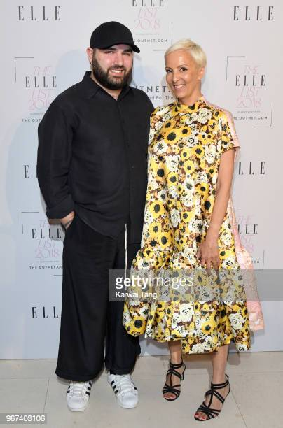 Michael Halpern and AnneMarie Curtis attend The ELLE List 2018 at Spring at Somerset House on June 4 2018 in London England