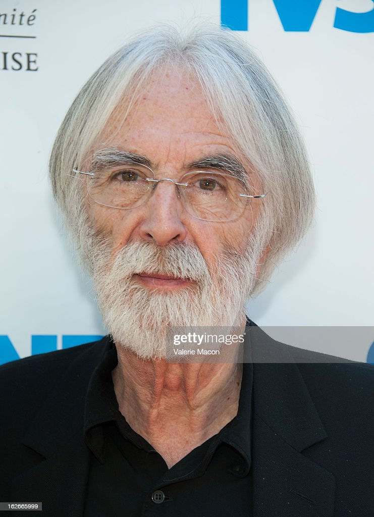 Michael Haneke attends The Consul General Of France, Mr. Axel Cruau, reception in Honor of The French Nominees For The 85th Annual Academy Awards at French Consulate's Home on February 25, 2013 in Beverly Hills, California.