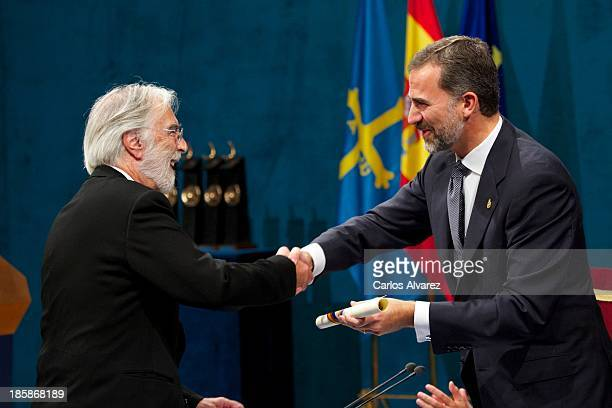Michael Haneke receives from Prince Felipe of Spain the Prince of Asturias Award for the Arts during the 'Prince of Asturias Awards 2013' ceremony at...