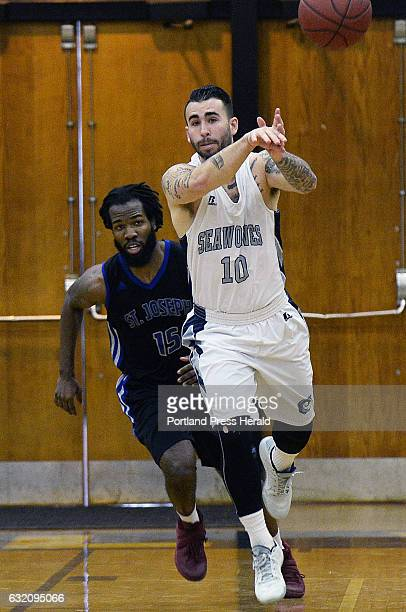 Michael Harmon Southern Maine Community College basketball in action against St Joseph's of Vermont Saturday January 14 2017
