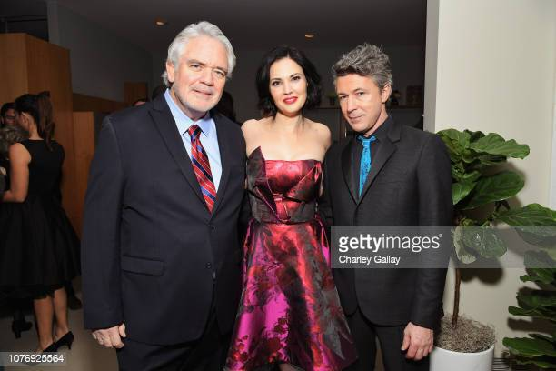 Michael Harney Laura Mennell and Aidan Gillen attend the LA premiere party for HISTORY's new drama 'Project Blue Book' on January 3 2019 in Los...