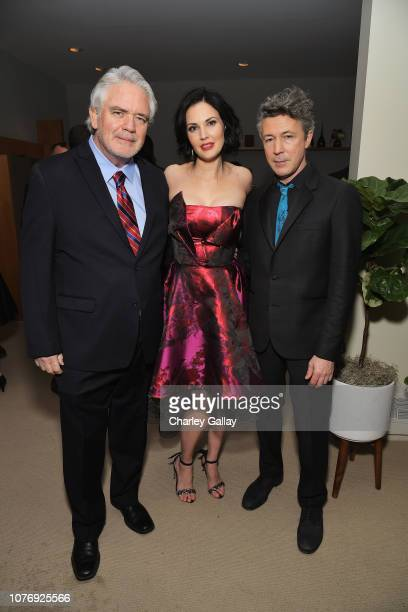 Michael Harney Laura Mennell and Aidan Gillen attend the LA premiere party for HISTORY's new drama Project Blue Book on January 3 2019 in Los Angeles...