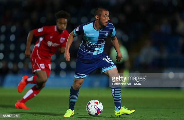 Michael Harriman of Wycombe Wanderers during the EFL Cup match between Wycombe Wanderers and Bristol City at Adams Park on August 8 2016 in High...