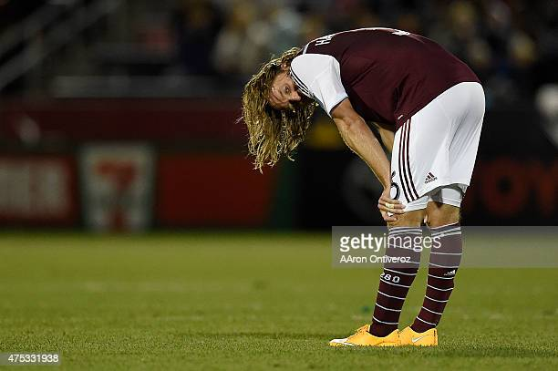 Michael Harrington of Colorado Rapids reacts to losing to the Portland Timbers after the second half of Portland's 21 win The Colorado Rapids hosted...