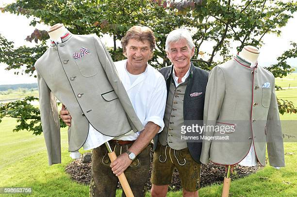 Michael Hartl and Frederic Meisner during the 5th Lederhos'n Cup on September 2 2016 in Valley near Holzkirchen Germany