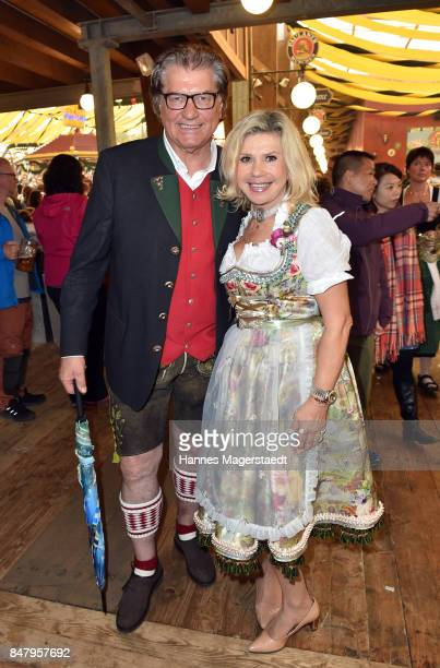 Michael Hartl and his wife Marianne Hartl during the Oktoberfest beer festival in the Winzerer Faehndl beer tent at Theresienwiese on September 16...