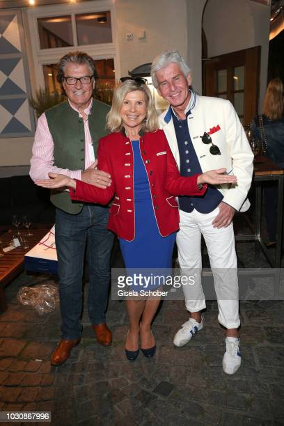 Michael Hartl and his wife Marianne Hartl Frederic Meisner during the Munich CONNEXxxions and Connections PR summer party at Steirer am Markt on...