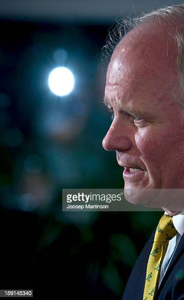 Michael Hawker speaks to the media during an ARU press conference at ARU Headquarters on January 9 2013 in Sydney Australia