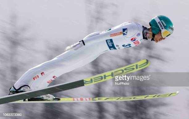 Michael Hayboeck competes during FIS Ski Jumping World Cup 2018-2019 - Men's HS134 on November 18, 2018 in Wisla, Poland.