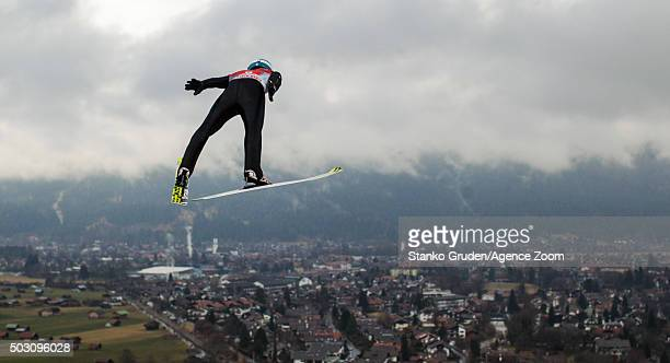 Michael Hayboeck of Austria competes during the FIS Nordic World Cup Four Hills Tournament on January 1 2016 in GarmischPartenkirchen Germany