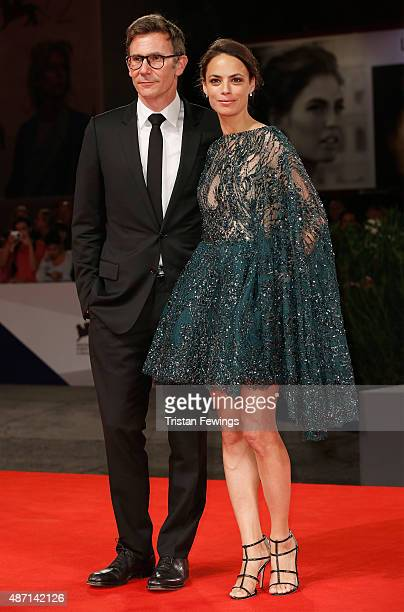 Michael Hazanavicius and Berenice Bejo attend a premiere for 'El Clan' during the 72nd Venice Film Festival at Sala Grande on September 6 2015 in...