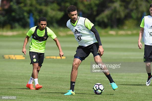 Michael Hector at Chelsea Training Ground on July 6 2016 in Cobham England