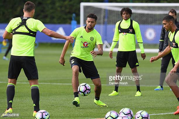 Michael Hector during a Chelsea training session at Chelsea Training Ground on July 12 2016 in Cobham England