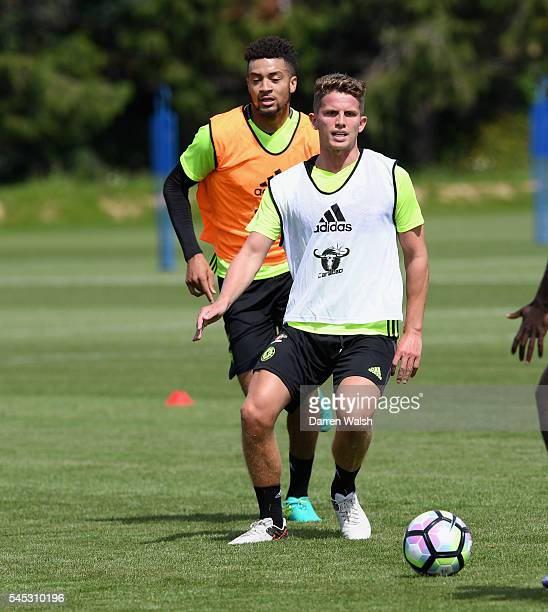 Michael Hector Jordan Houghton at Chelsea Training Ground on July 6 2016 in Cobham England