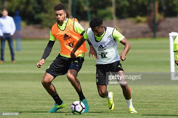 Michael Hector Kasey Palmer at Chelsea Training Ground on July 6 2016 in Cobham England