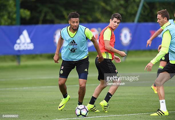 Michael Hector Oscar at Chelsea Training Ground on July 13 2016 in Cobham England