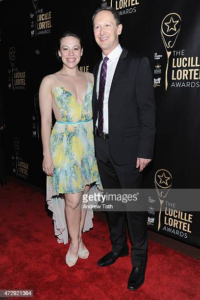 Michael Heitzman and Mara Greer Newberry attend the 30th Annual Lucille Lortel Awards at NYU Skirball Center on May 10 2015 in New York City