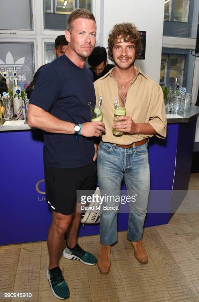 Michael Hennegan and Luke Day attend adidas 'Prouder' A Fat Tony Project in aid of the Albert Kennedy Trust supporting LGBT youth at Heni Gallery...
