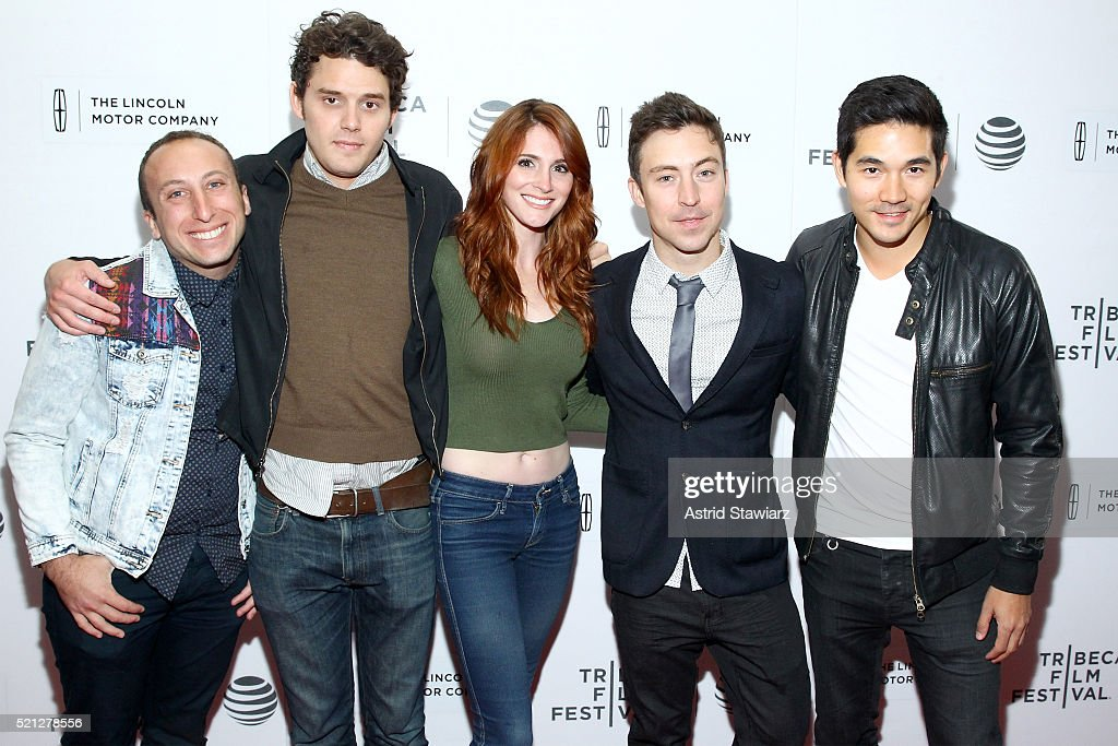 Michael Henry, Jonathan Ebeling, Stephanie Koenig, Brian Jordan Alvarez, and Ken Kirby from The Gay and Wondrous Life of Caleb Gallo, attends the 2016 Tribeca Film Festival Shorts: New York Then at Regal Battery Park Cinemas on April 14, 2016 in New York City.