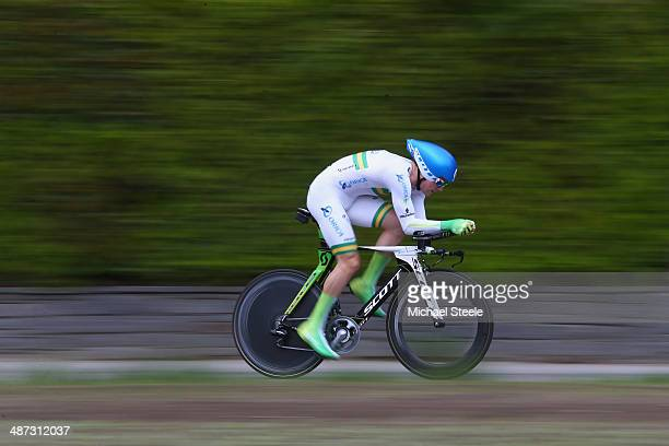 Michael Hepburn of Australia and Orica GreeEdge during the 557km Prologue stage of the Tour de Romandie on April 29 2014 in Ascona Switzerland