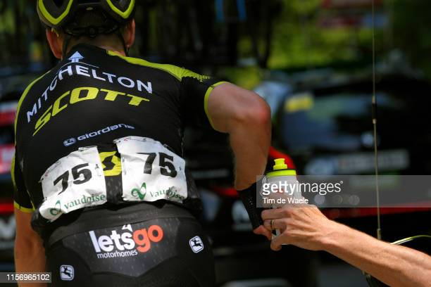 Michael Hepburn of Australia and Team Mitchelton Scott / Bottle / Feed Zone / during the 83rd Tour of Switzerland Stage 5 a 177km stage from...
