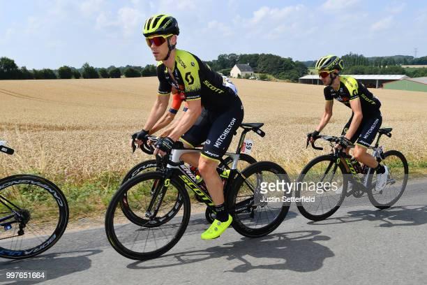 Michael Hepburn of Australia and Team Mitchelton-Scott / Adam Yates of Great Britain and Team Mitchelton-Scott / during the 105th Tour de France...