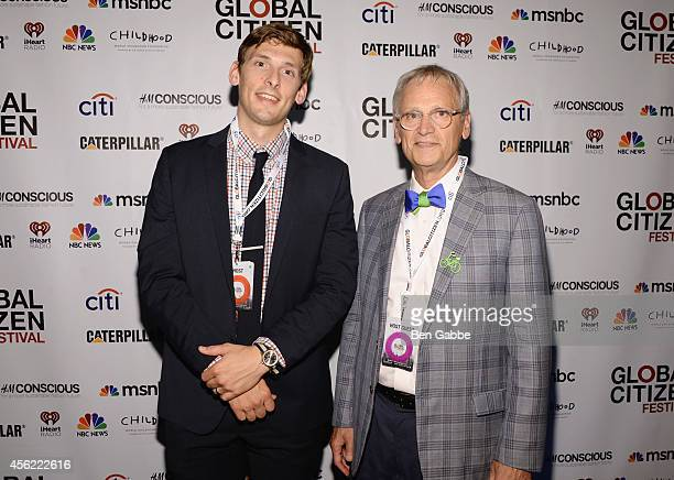 Michael Herald and Congressman Earl Blumenauer attend the 2014 Global Citizen Festival to end extreme poverty by 2030 at Central Park on September 27...